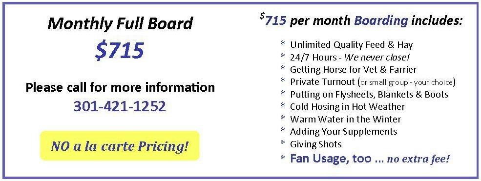 Boarding Fees
